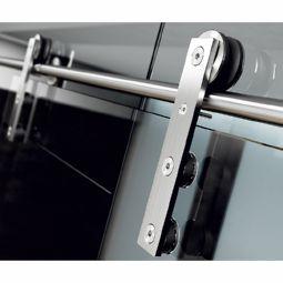 Schiebetürgarnitur für Glastüren Serie Ten square